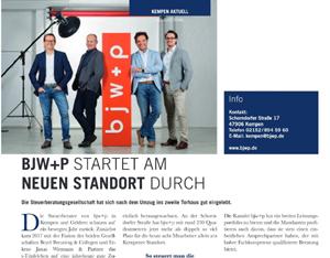 BJW+P starten am neuen Standort Kempen durch