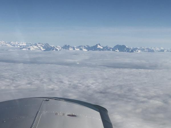 Flug Panorama Ansicht