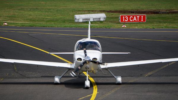 Flugzeug ready for takeoff