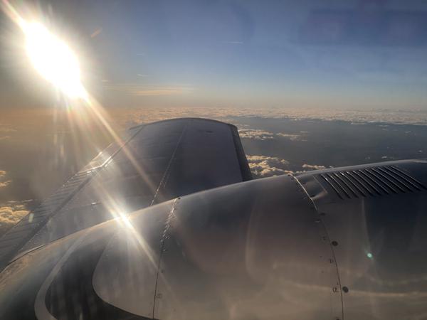 Luftaufnahme Passagier Flug